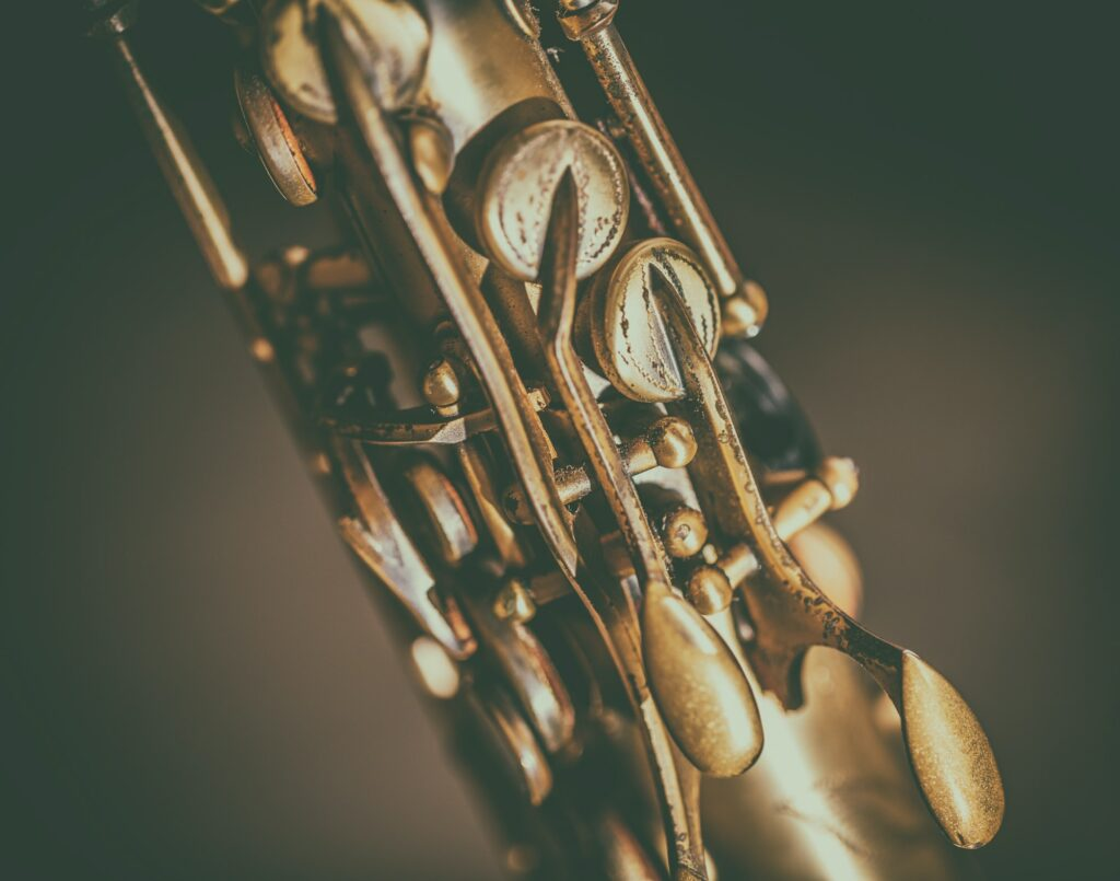 Detail of saxophone keys